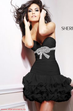 Fekete Sherri Hill Perfection Ruha