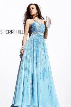 Világoskék Sherri Hill 8437 Ruha
