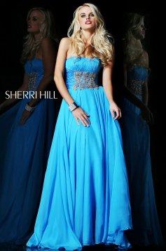 Kék Sherri Hill 1549 Ruha