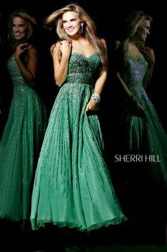 Zöld Sherri Hill 8437 Ruha