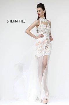 Fehér Sherri Hill 21213 Ruha