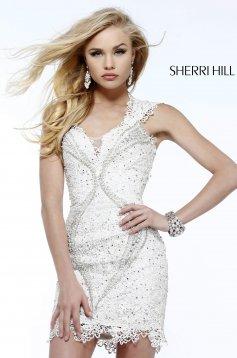 Fehér Sherri Hill 9803 Ruha