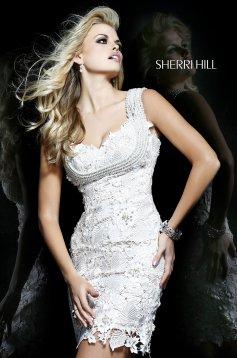 Fehér Sherri Hill 9802 Ruha