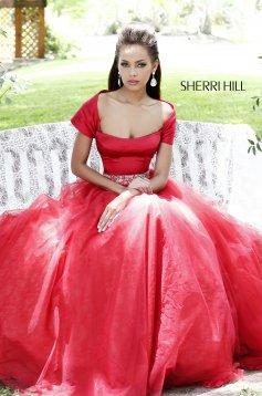 Piros Sherri Hill 21249 Ruha