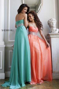 Narancs Sherri Hill 3909 Ruha