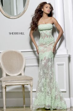Zöld Sherri Hill 11084 Ruha