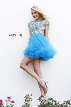 Kék Sherri Hill 21304 Ruha