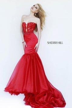 Piros Sherri Hill 32107 Ruha