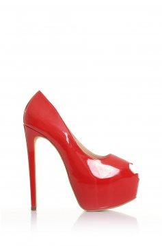 Piros Mineli Boutique Beloved Bőr Cipő