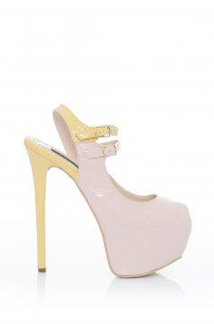 Rózsaszínű Mineli Boutique Temptation Bőr Szandál