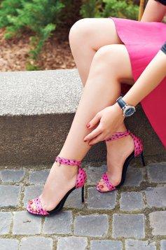 Pink Mineli Boutique Magnific Bőr Szandál
