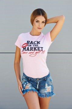 Rózsaszínű Seductive Market Póló