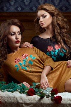 Arany StarShinerS Brodata Rose Fashion Ruha