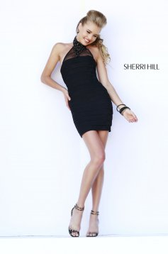 Fekete Sherri Hill 32162 Ruha