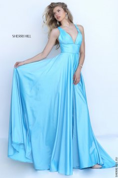 Rochie Sherri Hill 50296 Light Blue