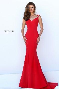 Rochie Sherri Hill 50241 Red