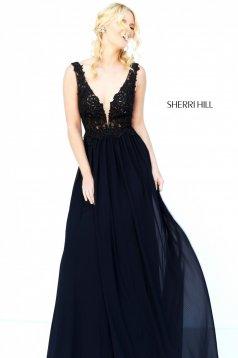 Fekete Sherri Hill 50255 Ruha