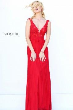 Piros Sherri Hill 50255 Ruha