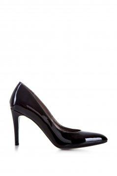 Fekete stiletto enyhén hegyes orral cipő