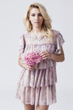 Rózsaszínű Daniella Cristea Intensity Ruha