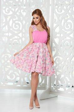 Rózsaszínű StarShinerS Princess Rose Ruha