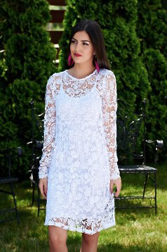 Fehér MissQ Fashionable Ruha