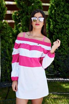 Pink PrettyGirl Modern Style Strand Blúz