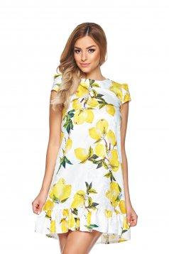 Fehér Fofy Lemon Garden Ruha