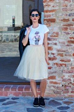 Fehér StarShinerS Fashionista Icon Póló