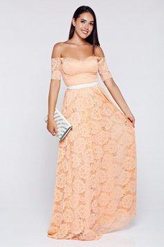 Narancs Artista ruha alkalmi csipkés anyagból szivacsos, push-up-os mellrész