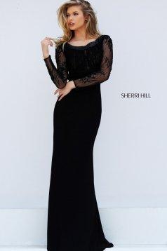 Fekete Sherri Hill 50511 Ruha