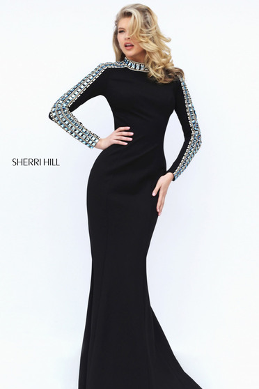 Fekete Sherri Hill 50611 Ruha