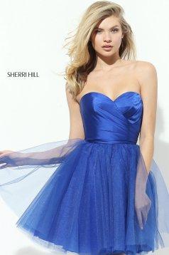 Kék Sherri Hill 50657 Ruha