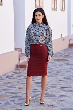 Burgundy PrettyGirl Office Lady Szoknya