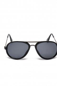 Fekete Top Secret napszemüveg kerek lencsével műanyag kerettel