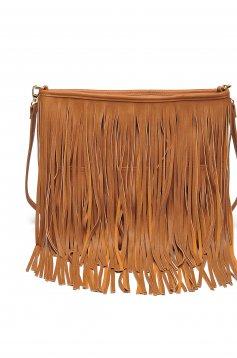 Barna Top Secret hétköznapi táska rojtokkal