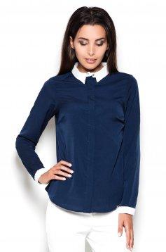 Alkalmi hosszú ujjú kék női ing