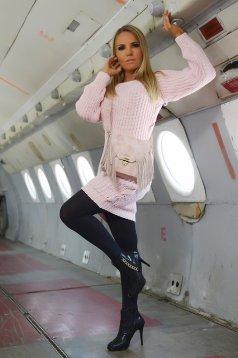 Rózsaszínű MissQ Warm Up Pulóver