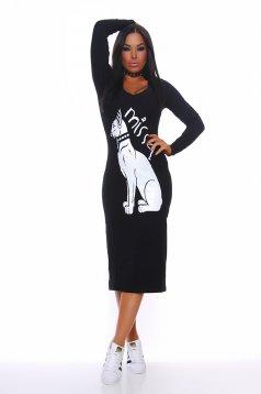 Fekete MissQ Egyptian Symbol Ruha