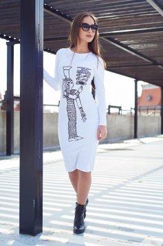 Fehér MissQ Egyptian Symbol Ruha