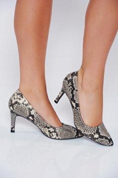 Fekete Top Secret cipő magassarkú állat minta