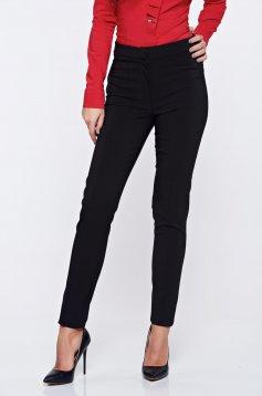 Fekete LaDonna irodai kónikus zsebes nadrág