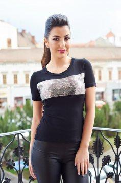 Fekete Daniella Cristea Glam Day Póló