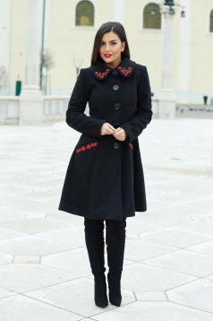 Fekete LaDonna Splendid Style Nagykabát