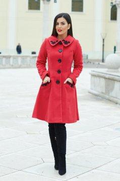 Piros LaDonna Splendid Style Nagykabát