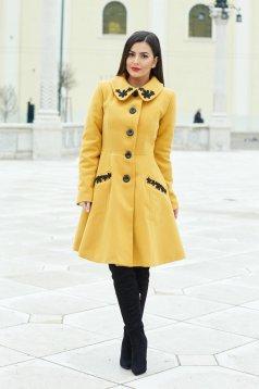 Sárga LaDonna Splendid Style Nagykabát