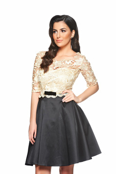 Fekete StarShinerS Imperial Lace Ruha
