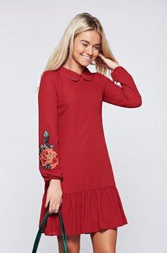 Barna LaDonna ruha elegáns hímzett belső béléssel