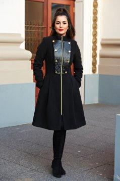 Fekete LaDonna Military Lady Nagykabát