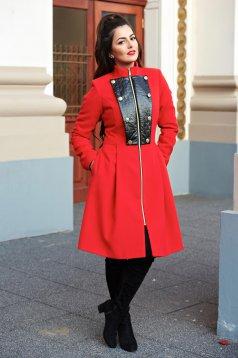 Piros LaDonna Military Lady Nagykabát